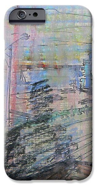 City Scape Drawings iPhone Cases - Maple Leaf Quay iPhone Case by Marwan George Khoury