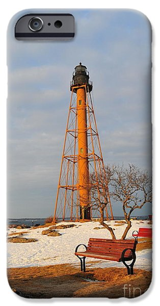 New England Lighthouse iPhone Cases - Marblehead Light iPhone Case by Catherine Reusch  Daley