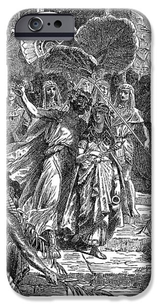 Warrior Goddess Photographs iPhone Cases - Marc Antony & Cleopatra iPhone Case by Granger
