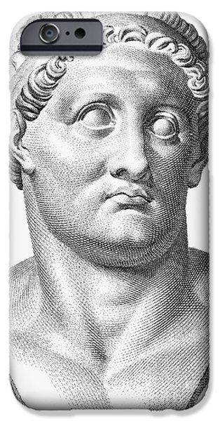 Statue Portrait iPhone Cases - Marcus Salvius Otho iPhone Case by Granger