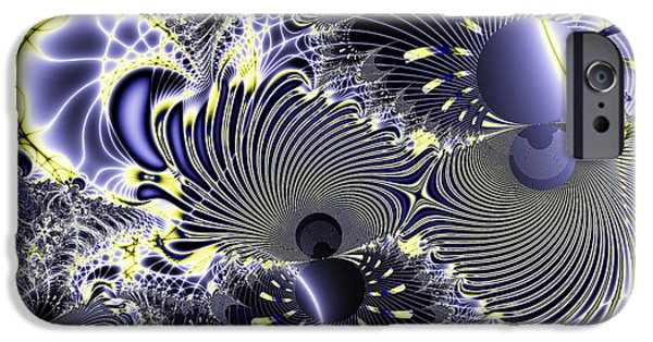 Algorithmic Digital Art iPhone Cases - Mardi Gras iPhone Case by Wingsdomain Art and Photography