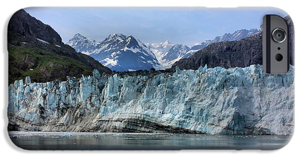 Striae iPhone Cases - Margerie Glacier iPhone Case by Kristin Elmquist