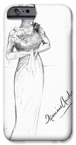 Autographed iPhone Cases - Marian Anderson (1897-1993) iPhone Case by Granger