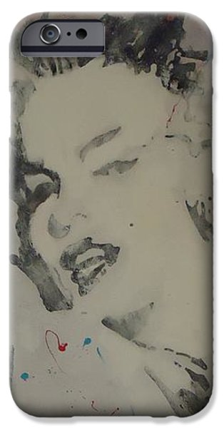 Celebrities Art iPhone Cases - Marilyn Pink iPhone Case by Nick Mantlo-Coots