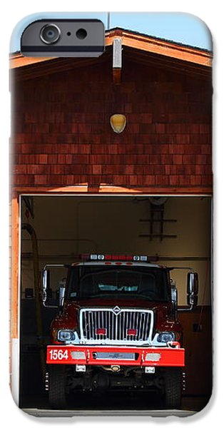 Marin County Fire Department . Point Reyes California . 7D15920 iPhone Case by Wingsdomain Art and Photography