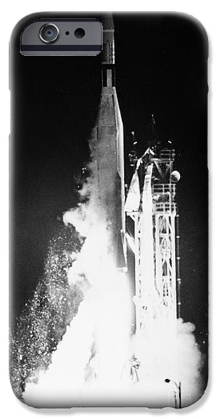 Ambition Photographs iPhone Cases - Mariner 1: Launch, 1962 iPhone Case by Granger