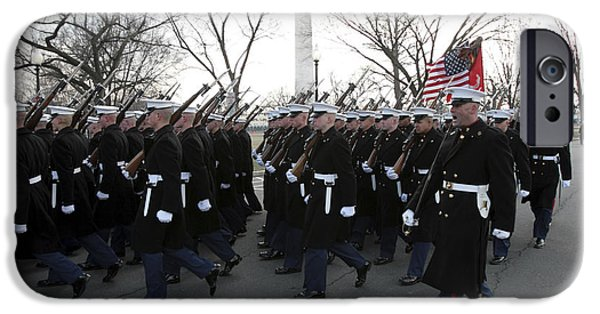 Inauguration iPhone Cases - Marines Participate In The 2009 iPhone Case by Stocktrek Images