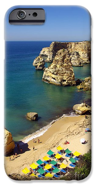Above iPhone Cases - Marinha Beach iPhone Case by Carlos Caetano