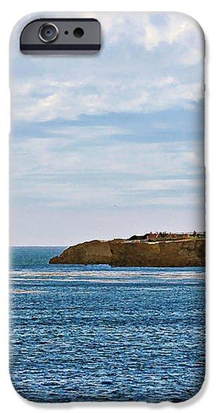 Mark Abbot Memorial Lighthouse - Lighthouse on the beach - Santa Cruz CA USA iPhone Case by Christine Till
