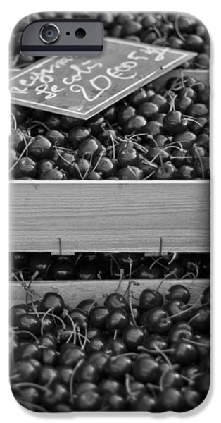 Market Cherries iPhone Case by Nomad Art And  Design