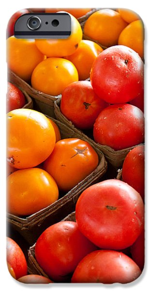 Market Tomatoes iPhone Case by Lauri Novak