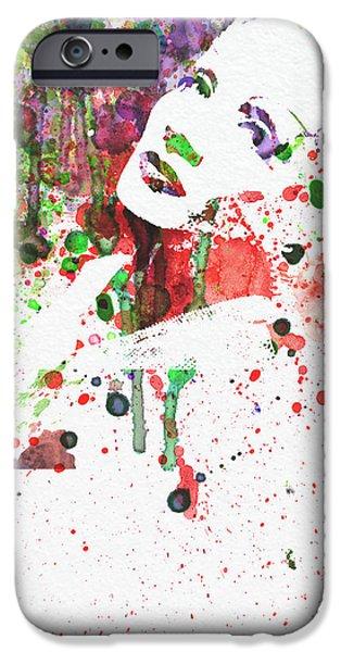 Marlene Dietrich 3 iPhone Case by Naxart Studio