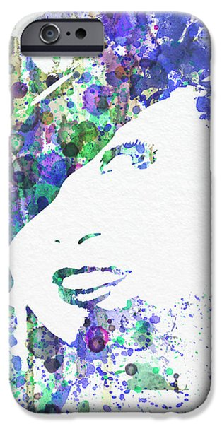 Angel Blues iPhone Cases - Marlene Dietrich iPhone Case by Naxart Studio