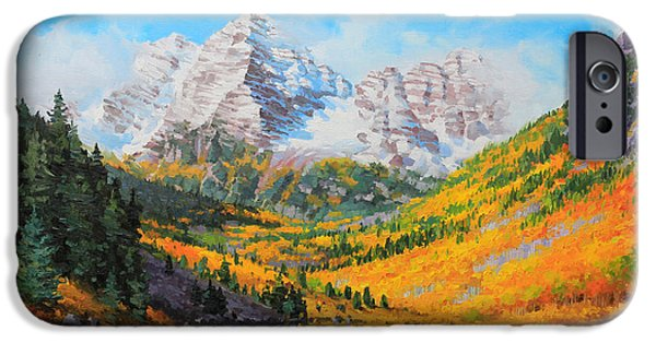 Breathtaking iPhone Cases - Maroon Bells iPhone Case by Gary Kim