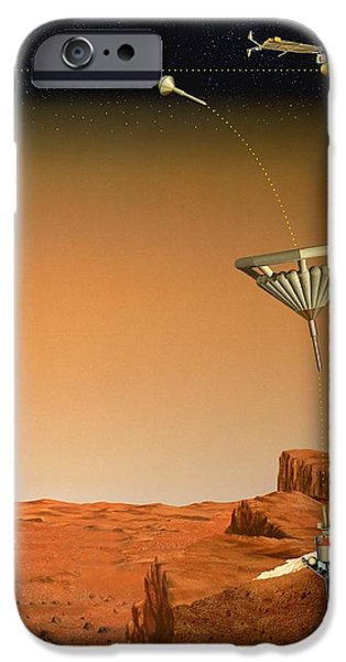 Penetration iPhone Cases - Mars 96 Penetrator, Artwork iPhone Case by David Ducros