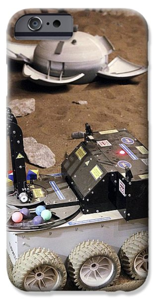 Mars Rover Testing iPhone Case by Ria Novosti