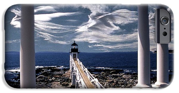 Lighthouse Art iPhone Cases - Marshall Point Lighthouse Maine iPhone Case by Skip Willits