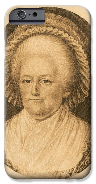 First Lady iPhone Cases - Martha Washington, American Patriot iPhone Case by Photo Researchers