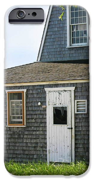 Clapboard House iPhone Cases - Marthas Vineyard Beach House iPhone Case by Michelle Wiarda