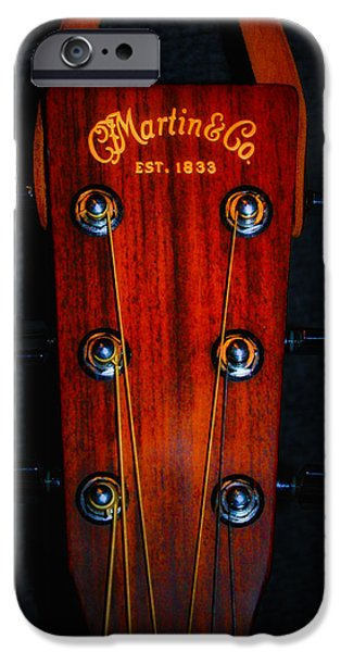Bill Cannon iPhone Cases - Martin and Co. Headstock iPhone Case by Bill Cannon