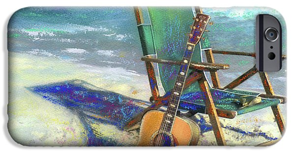 Sun Paintings iPhone Cases - Martin Goes to the Beach iPhone Case by Andrew King