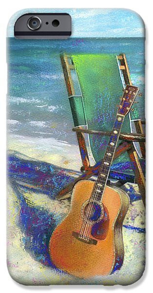 Martin Goes to the Beach iPhone Case by Andrew King