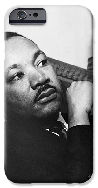 Discrimination iPhone Cases - Martin Luther King, Jr iPhone Case by Photo Researchers