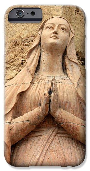 Mary's Prayers iPhone Case by Carol Groenen
