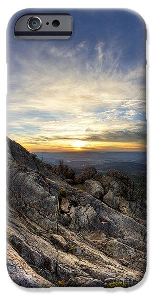 Marys iPhone Cases - Marys Rock Shenandoah National Park iPhone Case by Dustin K Ryan