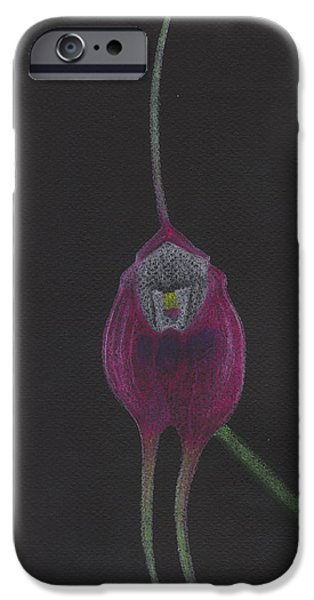 Fauna Pastels iPhone Cases - Masdevallia Infracta Orchid iPhone Case by Jose Valeriano