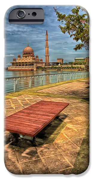Prayer Digital Art iPhone Cases - Masjid Putra iPhone Case by Adrian Evans