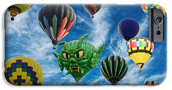 Lewiston iPhone Cases - Mass Hot Air Balloon Launch iPhone Case by Paul Ward