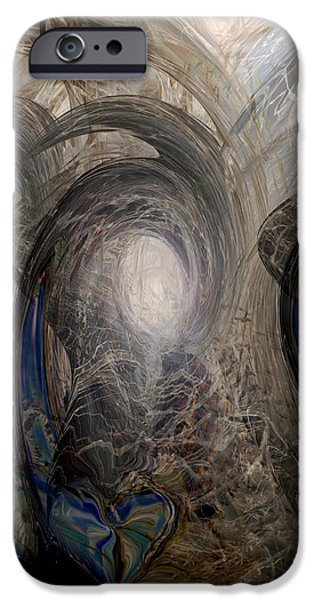 Abstract Digital iPhone Cases - Massive Attack iPhone Case by Linda Sannuti