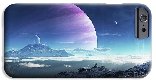 Best Sellers -  - Moonscape iPhone Cases - Massive Lei Gong Rises In The Distance iPhone Case by Brian Christensen