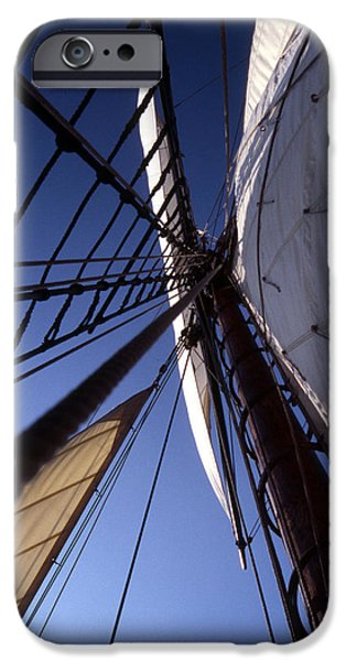 Tall Ship iPhone Cases - Masthead iPhone Case by Skip Willits