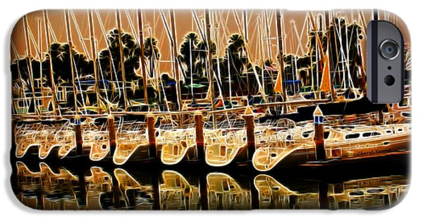 Sailboats Docked iPhone Cases - Masts iPhone Case by Cheryl Young