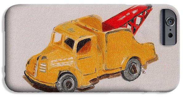 Tow Truck iPhone Cases - Matchbox Tow Truck iPhone Case by Glenda Zuckerman