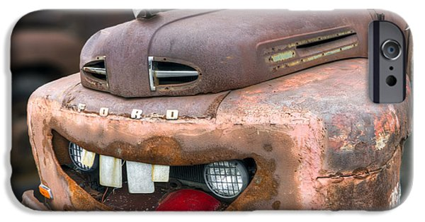 Tow Truck iPhone Cases - Mater from Cars 2 Ford Truck iPhone Case by Dustin K Ryan