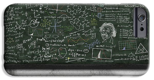 Best Sellers -  - Board iPhone Cases - Maths Formula On Chalkboard iPhone Case by Setsiri Silapasuwanchai