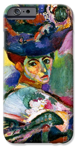 Aod iPhone Cases - Matisse: Woman W/hat, 1905 iPhone Case by Granger