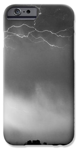 May Showers 2 in BW - Lightning Thunderstorm 5-10-2011 Boulder C iPhone Case by James BO  Insogna