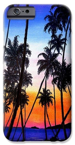 MAYARO RED DAWN iPhone Case by KARIN KELSHALL- BEST