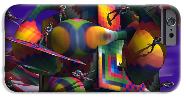 Best Sellers -  - Virtual iPhone Cases - M.C. Escher in the Afterlife iPhone Case by Jon D Gemma