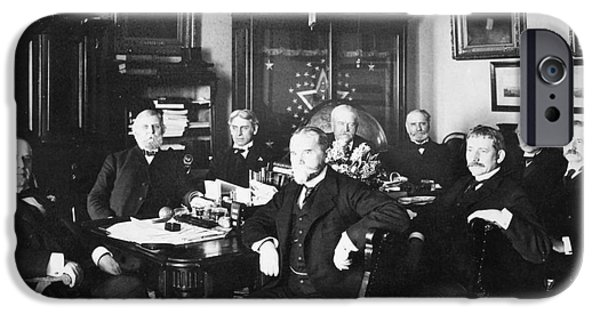 The White House Photographs iPhone Cases - Mckinley & Cabinet, 1900 iPhone Case by Granger