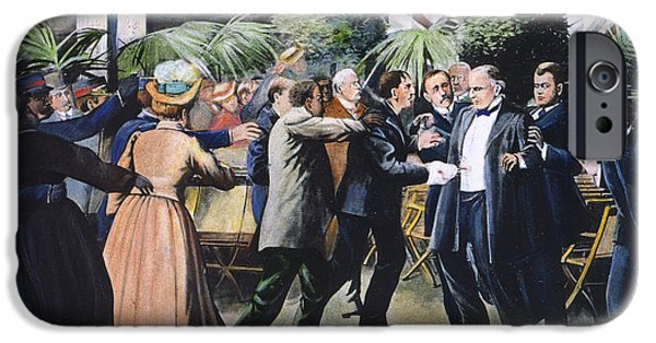 President iPhone Cases - McKINLEY ASSASSINATION iPhone Case by Granger