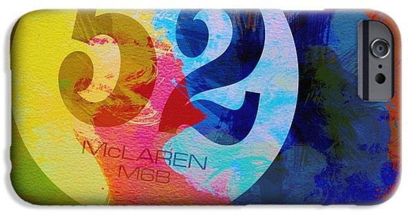Naxart Digital Art iPhone Cases - Mclaren Watercolor iPhone Case by Naxart Studio