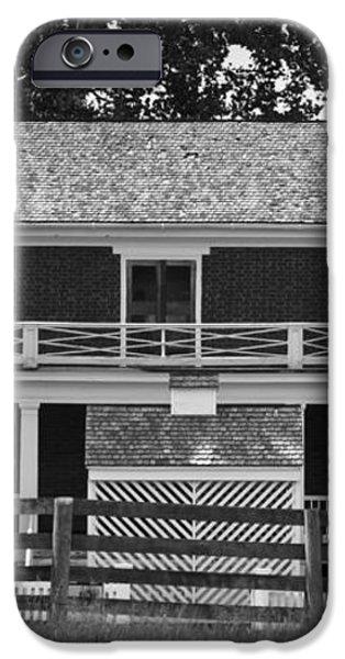 McLean House BW Appomattox Virgnia iPhone Case by Teresa Mucha