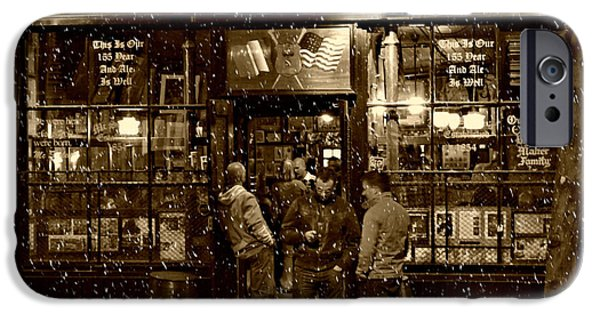 Urban Art iPhone Cases - McSorleys Old Ale House iPhone Case by Randy Aveille