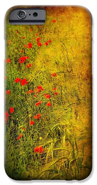 Flora Mixed Media iPhone Cases - Meadow iPhone Case by Svetlana Sewell