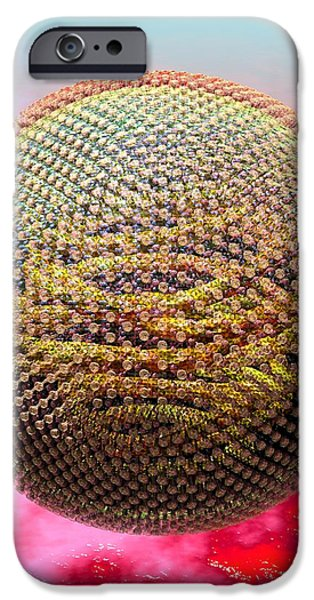 Measles Virus iPhone Case by Russell Kightley